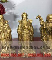 Bộ Phúc Lộc Thọchất liệuđồng vàng
