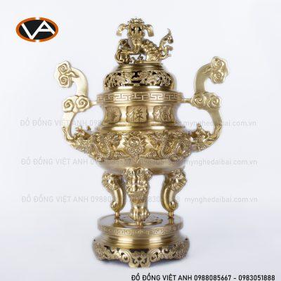 Bộ Ngũ Sự rồng vàng đồng 60cm